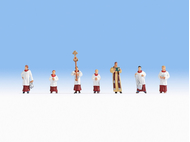 Figurines miniatures : Pretre et servants de messe 1:87 - Noch 15410