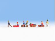 Enfants miniatures à la neige1:160 - Noch 36819