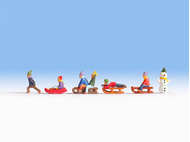 Enfants miniature à la neige  1:120 - Noch 45819