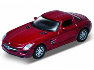 Voiture miniature - Mercedes SLS AMG rouge - 1/87 WELLY 73144
