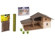 Décors miniatures : Coffret crèche de Noël en découpe laser - 1:87 H0 - Noch 65620