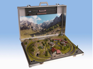 """Réseau en mallette """"Berchtesgaden"""" avec voies Marklin - 1:160 N - Noch 88400"""