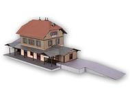"""Bâtiment miniature : Gare """"Honau"""" en découpe laser - 1:87 HO - Noch 66007"""