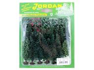 JORD-7B - 25 sapins miniatures et arbres 2-8 cm 1:160, n