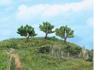 3 arbres miniatures de marais 5,5 cm HO - N - Heki 1911