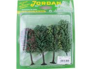 4 arbres fleuris miniatures 10 - 12 cm 1:87 -JORD-4