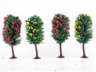 4 arbres fruitiers miniatures 10 cm 1:87, HO - Jordan 6B