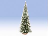 Végétation miniature : Sapin déco enneigé avec socle en bois 35 cm - 1:87 - Noch 4019836
