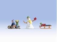 Figurines miniatures : Enfants à la neige - 1:43 - Noch 17921