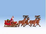 Personnages miniatures : Père Noël avec traineau - 1:87 HO - Noch 15924 - diorama.fr