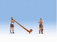Figurines : Joueurs de cor des Alpes - 1:87 HO - Noch 15579 - diorama.fr