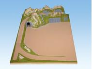 Extension gauche de plateau 100 x 140 cm, 26 cm de hauteur - 1:87 HO - Noch 80120 - diorama.fr