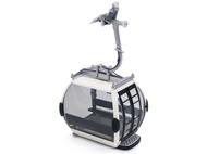 Télécabine oméga IV 10 blanche pour téléphérique miniature - JC 88004