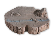 """Décors miniatures : Base de diorama """"Souche d'arbre"""" - Noch 10001"""