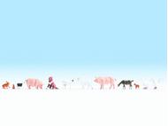 Figurines miniatures :  Animaux a la ferme - Noch 15711