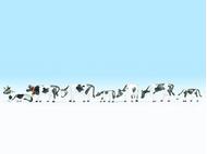 Figurines miniatures : Vaches noires et blanches - Noch 15721