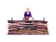 Petite barrière en bois