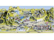 80101 extention avant des installations Silvretta et Lucerne, 220x40 cm