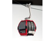 Télécabine oméga rouge pour téléphérique miniature