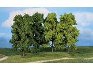 4 arbres à feuilles 18 cm