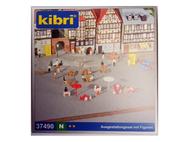 Terrasse de café et personnages 1:160 - N - Kibri