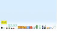 Noch 14810 - Accessoires de gare miniatures 1:87