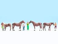 Figurines miniatures :  Soins chevaux - Noch 15632