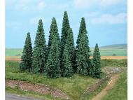 Sapins miniatures : Heki 2235 – 10 Sapins argentés 9 - 14 cm