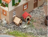 Décors miniatures : Niches de chien - Faller 180309
