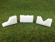 3 murs en pierres miniatures 3D
