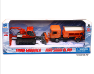 Jouet miniature Chasse-neige + Dameuse - 1/43 - New Ray 5247