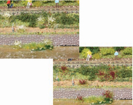 Heki 1805 - 100 touffes d'herbe lila/blanc 6 mm