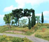 Végétation miniature : 11 arbres méditérranéens 8 - 17 cm - Heki 1774, 1774