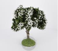Arbre fleuri blanc 11 cm - décors pour crêches