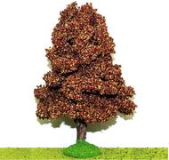 Châtaigniers automne miniature 14 cm tronc bois - décors pour crêches
