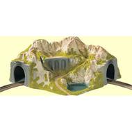 Décor miniature : Tunnel 1 voie courbe 1:87 - Noch 5130