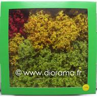 JORD-4C - 12 Arbres naturels colorés 8 - 12 cm 1:87 - HO