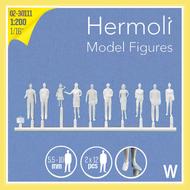 24 Personnages européens 3D 1:200 - Miniature pour décors d'architecture