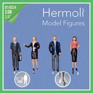 4 figurines miniatures employés de bureau - 1:50 - Pour maquette d'architecture