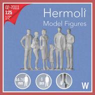 6 Personnages européens 3D 1:25 - Miniature pour décors d'architecture