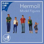5 Personnages miniatures 3D 1:100  - Miniatures pour décors d'architecture