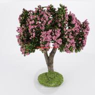Arbre fleuri rose 15cm - décors pour crêches