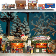 Marché de Noël miniature - 1:87 HO - Busch 01060 1060