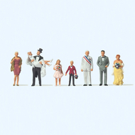 Personnages miniatures : Au mariage - 1:87 HO - Preiser 10790