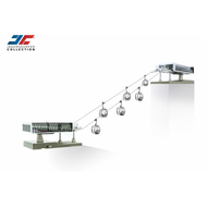 Téléphérique miniature -JC- éclairé JC 82497 - 6 télésièges, 2 gares 1:87e, HO