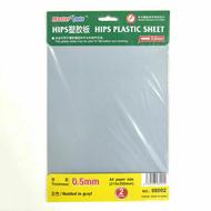 Outillage de modélisme - Feuilles plastique 0,5 mm HIPS - Master tools 08002