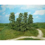 Heki 1642 : 12 arbres naturels miniatures - vert foncé valable pour les échelles H0 / TT / N / Z