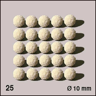 25 Boules d'éponge ø 10 mm