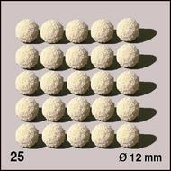 25 Boules d'éponge ø 12 mm