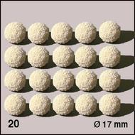 20 Boules d'éponge ø 15 mm